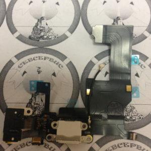 Шлейф для iPhone 5 + разъем зарядки + разъем гарнитуры + микрофон + антенна (белый)