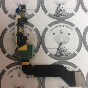 Шлейф для iPhone 4S + разъем зарядки (белый), Original